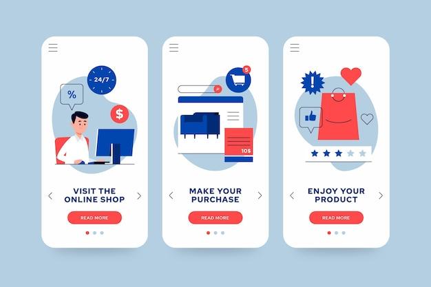 Compre pacote de conceito de aplicativo online