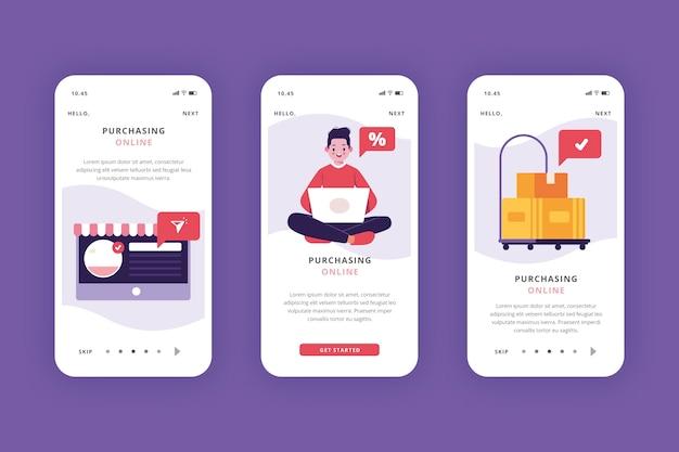 Compre telas de aplicativos on-line de integração