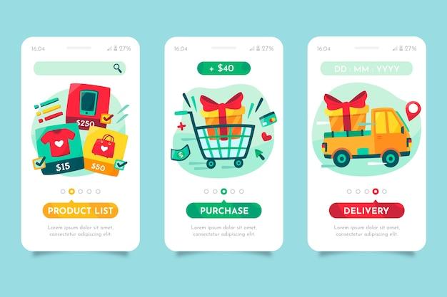 Compre telas de aplicativos on-line on-line