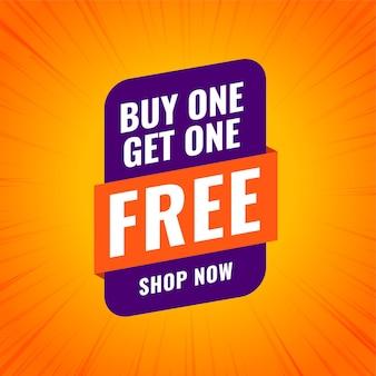 Compre um e leve um design de banner de venda de compras grátis