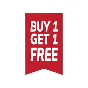 Compre um obter um vetor de tag promocional grátis