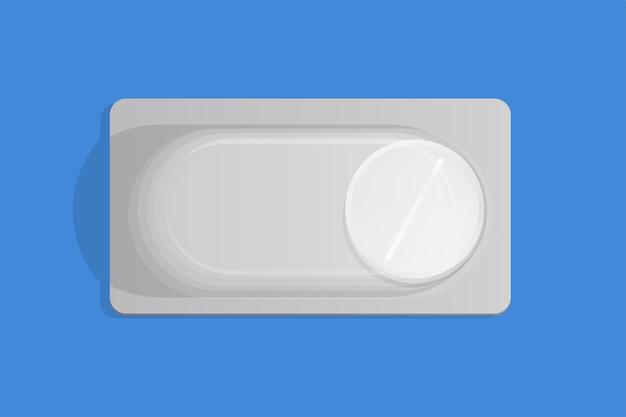 Comprimido branco em embalagem blister