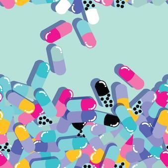 Comprimidos e cápsulas sem costura padrão