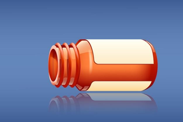 Comprimidos e garrafa