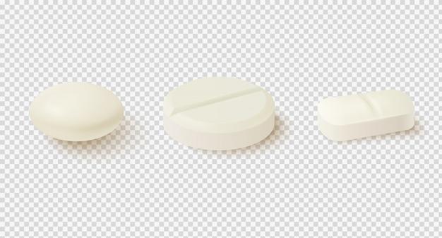 Comprimidos médicos realistas