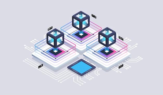 Computação de tecnologia isométrica de big data center