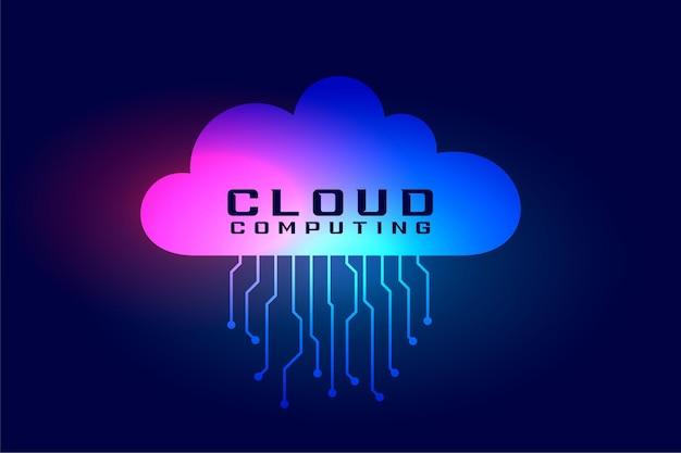 Computação em nuvem com linhas de tecnologia