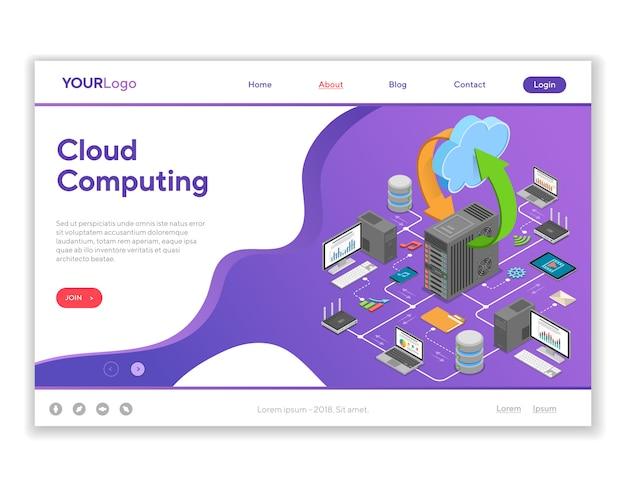 Computação em nuvem de rede de dados