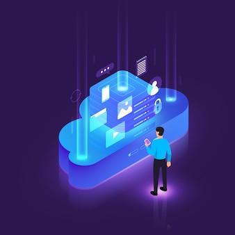 Computação em nuvem isométrica
