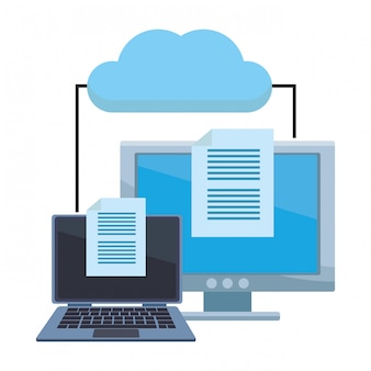 Computador com documentos