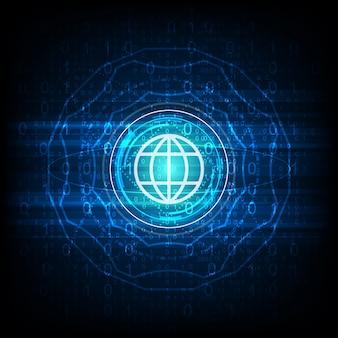 Computador de tecnologia global de vetores