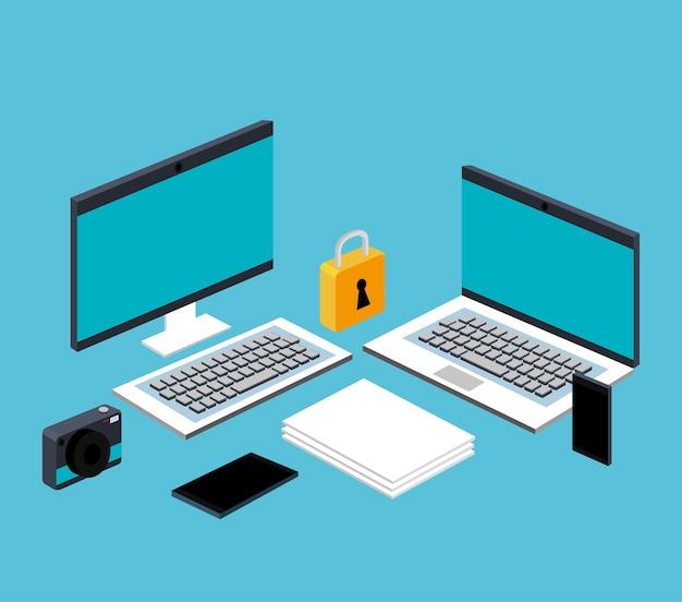 Computador, laptop, smartphone, arquivo, documento, secuirty, tecnologia, online