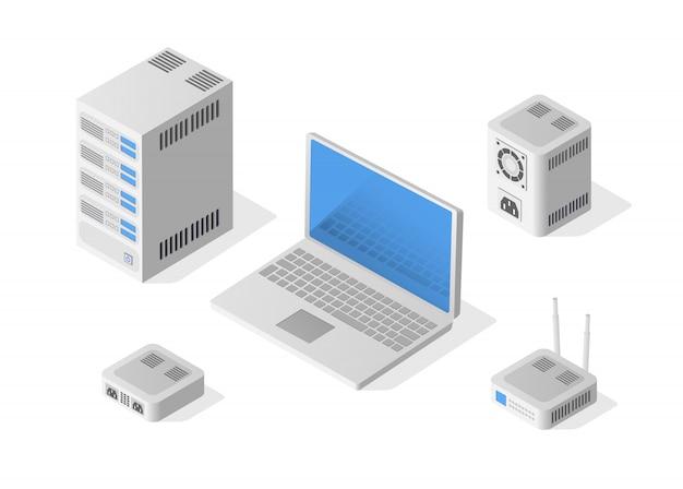 Computador pessoal isométrico