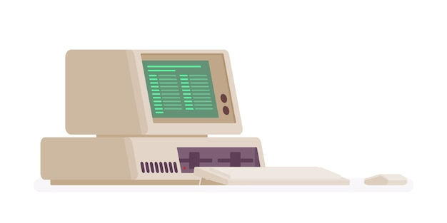 Computador pessoal retrô, modelo antigo
