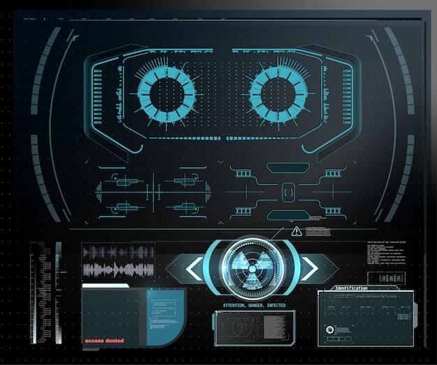 Computador quântico, grande processamento de dados, conceito de banco de dados. bandeira isométrica de cpu. conceito de cpu de processadores de computador central. processador futurista de microchip de chip digital com luzes sobre o fundo azul.