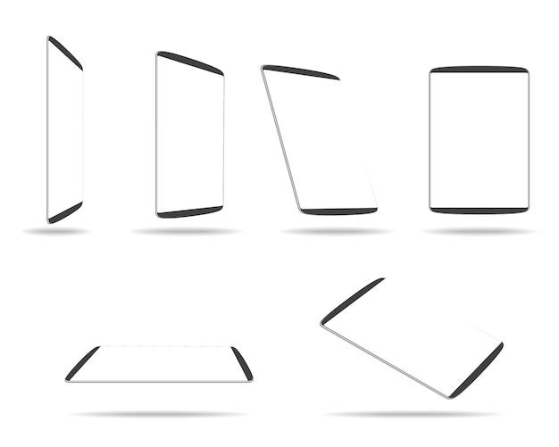 Computador tablet com tela branca em branco