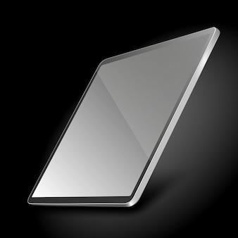 Computador tablet pc com ilustração de tela em branco