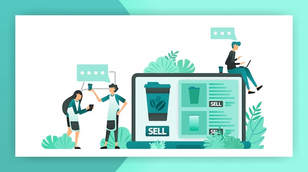 Comunicação à procura de ideias de lojas online para pequenas e médias empresas