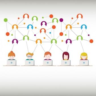 Comunicação através de um design internet