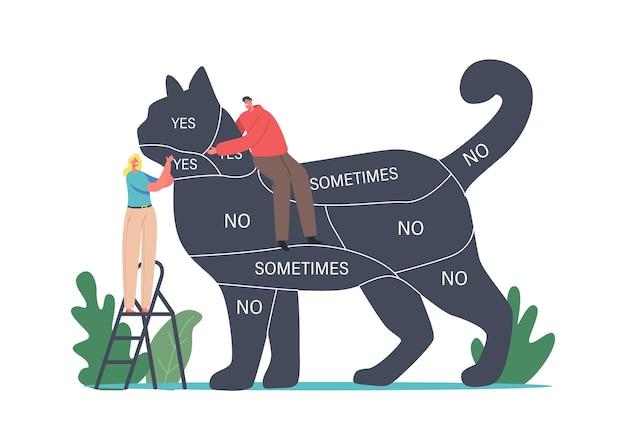 Comunicação com animais de estimação, pessoas cuidando dos animais, passando tempo com o gatinho