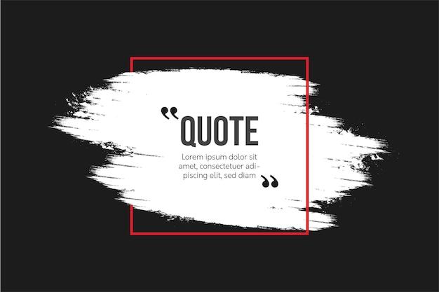 Comunicação de citações modernas com pincel abstrato