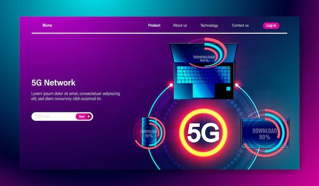 Comunicação de internet 5g