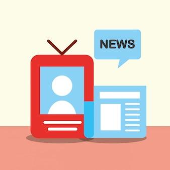 Comunicação de notícias se relacionam