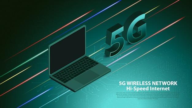 Comunicação de tecnologia de rede sem fio 5g