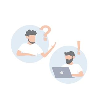 Comunicação do empresário com um homem