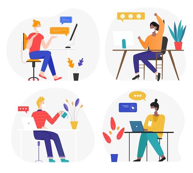 Comunicação e trabalho de negócios online