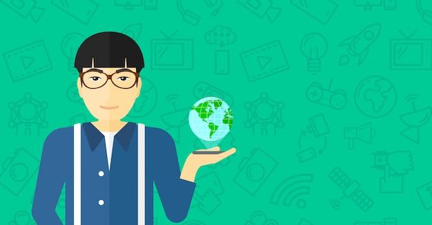 Comunicação internacional de tecnologia.