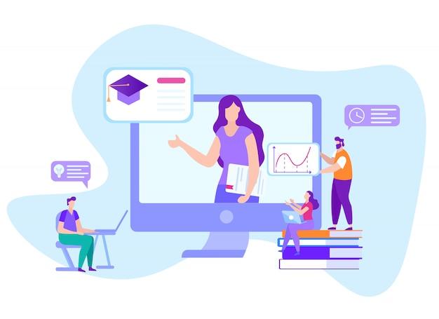 Comunicação on-line com alunos de ensino à distância