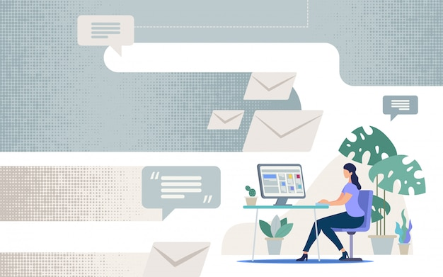 Comunicação on-line em negócios
