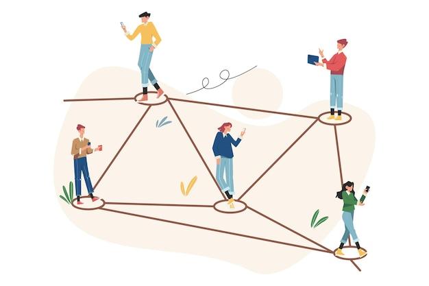 Comunicação online através da rede social da internet