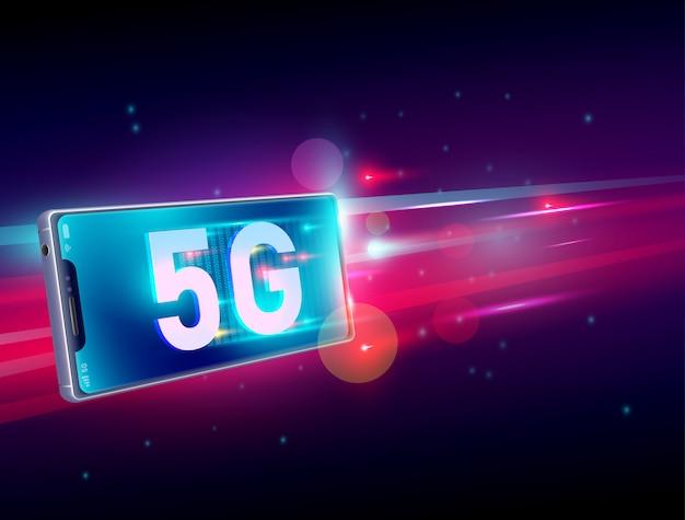 Comunicação sem fio da internet da rede 5g