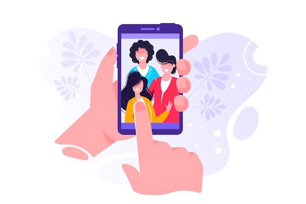 Comunicação via internet, redes sociais, bate-papo
