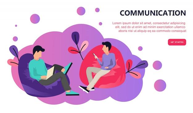 Comunicação via rede social