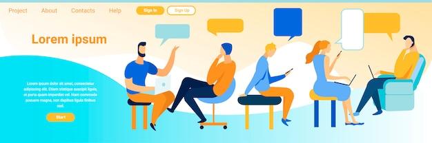 Comunicação virtual de publicidade na página de destino