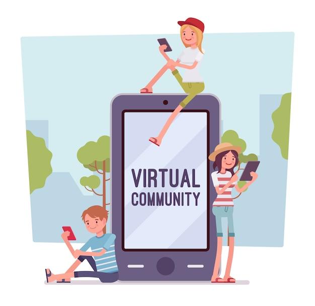Comunicação virtual para jovens