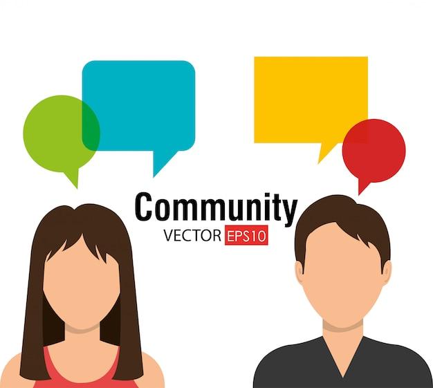 Comunidade e gráfico de pessoas