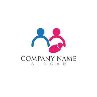 Comunidade e logotipo de adoção e imagem vetorial de símbolo
