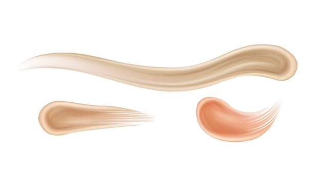 Concealer stroke face cosmetics makeup set