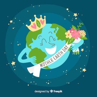 Concedido o planeta mãe terra dia fundo