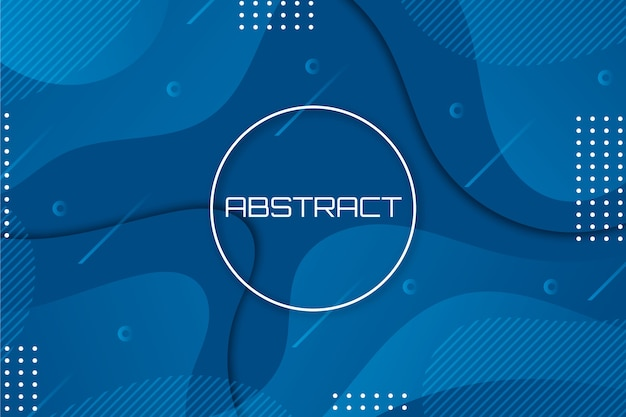 Conceito abstrato azul moderno papel de parede clássico