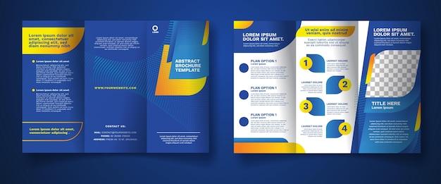 Conceito abstrato brochura com três dobras