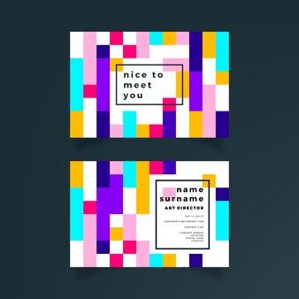 Conceito abstrato cartão colorido
