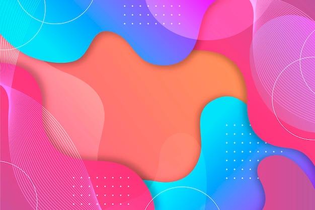 Conceito abstrato colorido