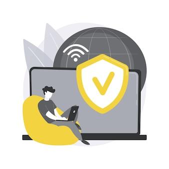 Conceito abstrato de acesso vpn
