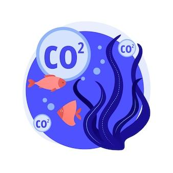 Conceito abstrato de acidificação do oceano