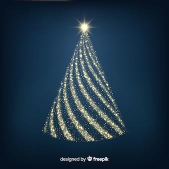 Conceito abstrato de árvore de natal dourada